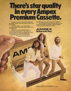 Vintage ads featurning classic celebrities | Vintage_ad_wbee_gees