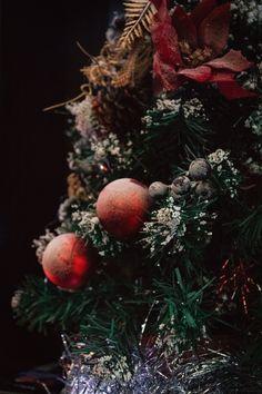 New Year tree. Snow. Happy new year