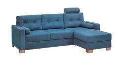 Sofa - velg blant flotte modeller eller bygg din egen modulsofaTrento 3s sovesofa m/sjeselongPocket madrass, latex/silicone ryggputer m/knapper, stoff Diego