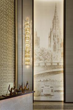 Hangzhou Yi and design - Golden Jiangnan Yi sales center Lobby Interior, Interior Architecture, Interior And Exterior, Classical Architecture, Grand Hall, Chinese Interior, Lobby Reception, Deco Addict, Lobby Design