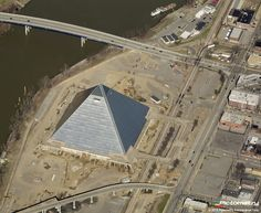 The Pyramid Arena in Memphis, TN captured by Pictometry. The former sports arena will now be an outdoor sports shop.