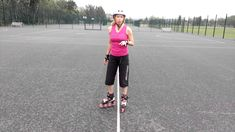 How to stop on rollerblades using the Hockey Stop.