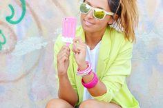 Summer Ice-cream. ( Sunglasses & Blazers )