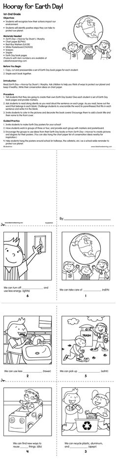 In this lesson plan, students create their own Earth Day books and posters—and learn how their actions impact the environment and what steps they can take to protect our planet. (first–second grade)