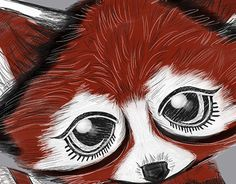 """Check out new work on my @Behance portfolio: """"Red Panda"""" http://be.net/gallery/43295241/Red-Panda"""