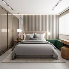 42 Restful Interior With Blue & Brass Accents Running Through ~ Home of Magazine Master Bedroom Interior, Modern Bedroom Design, Master Bedroom Design, Bedroom Decor, Hotel Room Design, Bedroom Layouts, Suites, Luxurious Bedrooms, Couches