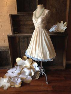 Crystal Cove Ivory Champagne Bridal Satin- Octopus Infinity Wrap Dress- Bridesmaids, Wedding