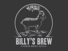 Billy goat coffee logo