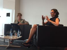 On stage with King & Wood Mallesons Senior Partner Diana Nicholson