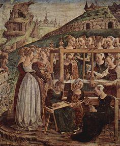 Francesco del Cossa - Allegory of March (detail)   Ferarra - Central Italy (1476-1484)