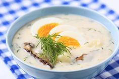 Kulajda is typical soup from mushrooms, dill and cream made in South Bohemia. Our great-grandmothers made it from milk, which was sour. Today we use sour cream. Recipes for this soup are many, because every … Creamed Mushrooms, Stuffed Mushrooms, Czech Recipes, Ethnic Recipes, Dill Sauce, Vegetable Seasoning, Mushroom Soup, Cookbook Recipes, Quick Meals