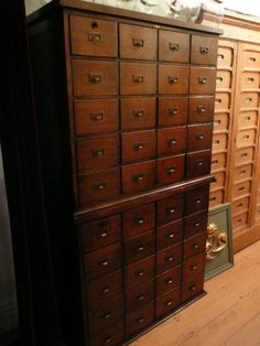European Antiques : Furniture ... collectors cabinet or filing cabinet...  could