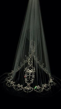 Veil- w/ black and crystals