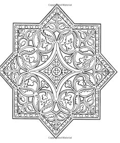 Medieval Patterns to Colour Adult Coloring Book Pages, Colouring Pages, Coloring Books, Mandala Chest Tattoo, Color Patterns, Quilt Patterns, Medieval Stained Glass, Medieval Pattern, Ornament Drawing