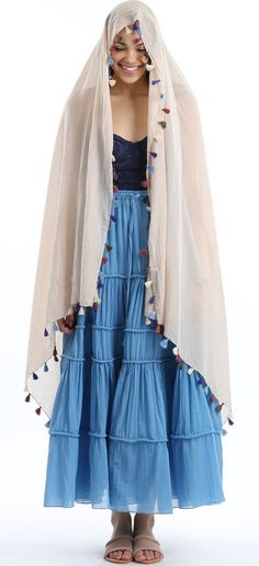 Carolina K Sky Isis Tier Skirt