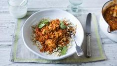 """This traditional, Indian, high-protein dish is the perfect weekday supper to warm you up. If you don't fancy rice you could serve the curry with wholemeal flatbread, roti or salad. Leftovers will keep in the fridge for a day or can be frozen. With a GI of 50, this meal is <a href=""""http://www.bbc.co.uk/food/collections/high-protein_low-gi_recipes"""">high protein, low GI</a> and provides 457 kcal per portion."""