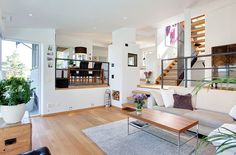 YES PLEASE Dream house , luxury , living room , interior design Split Level Home Designs, Dream Home Design, House Design, Split Level Kitchen, Br House, Room Interior, Interior Design, Interior Styling, Sunken Living Room