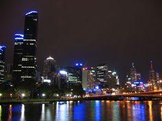melbourne city skyline at night