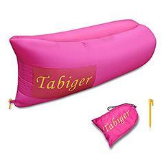 Tabiger Air Sleeping Bag, Lounger Air Filled Balloon Furniture with Carry Bag. Hangout as Lounge Chair, Air Sleep Sofa/Couch