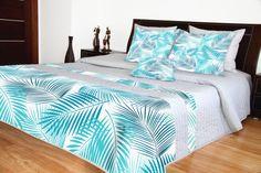 Prikrývka na posteľ s modrým vzorom Bed Sheets, Comforters, Bed Rooms, 3d, Blanket, Furniture, Design, Home Decor, Creature Comforts