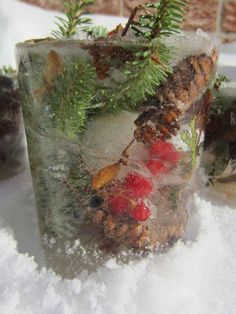 Preschool Science-Nature Ice Sculpture Craft - How To Run A Home Daycare