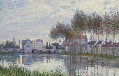 Alfred Sisley au coucher du soleil, octobresigned and dated 'Sisley. (lower left)oil on x 36 in.)Painted in Moret-sur-Loing in October 1888 Impressionist Landscape, Impressionist Paintings, Old Paintings, Landscape Paintings, Monet, Sisley Alfred, Visual Map, Famous Art, Figure Painting