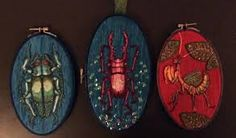 embroidered insects - Google Search