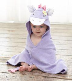 Lavender pony baby bath wrap.