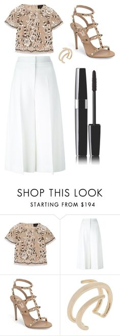 """""""Sans titre #6501"""" by merveille67120 ❤ liked on Polyvore featuring Needle & Thread, Rosetta Getty, Valentino, Jennifer Fisher and Chanel"""