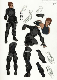 Reina- Armor Studies by Tekka-Croe on deviantART