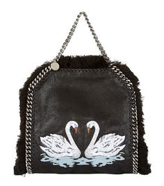 Stella McCartney Falabella Mini Swan Tote Black available to buy at Harrods. Shop women's designer bags online and earn Rewards points.