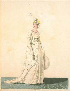 Afternoon Dress, December 1802, Gallery of Fashion