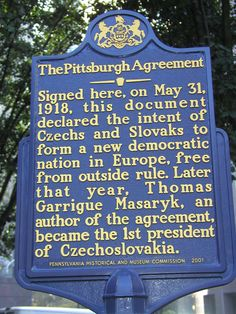Little known fact...and in October 2013, the Prague Writers' Festival comes to Pittsburgh along w Czech Republic business and political leaders.  A commemoration of sorts for this momentous event in Czech and Slovak history.