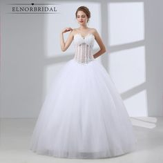 Cheap vestido de noiva, Buy Quality vestido de noiva plus directly from China de noiva Suppliers: Elegant White Ball Gown Wedding Dresses 2018 Sweetheart Beaded Plus Size Long Wedding Gown Illusion Bridal Gown Vestido De Noiva Long Gown For Wedding, Classic Wedding Dress, Cheap Wedding Dress, Gown Wedding, Unusual Wedding Dresses, Western Wedding Dresses, Discount Bridal Gowns, Cute Homecoming Dresses, Prom Dresses