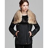 SAM. Jacket - Gramercy Biker Fur Trim