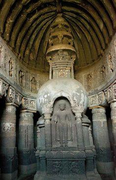 Patrimony of mankind: Aurangabad Caves, India.