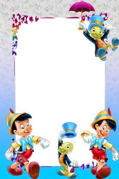 "Cricket"" from ""Pinocchio"" Boarder Designs, Page Borders Design, Pinocchio, Birthday Frames, Birthday Cards, Scrapbook Da Disney, Disney Frames, Foto Frame, Boarders And Frames"