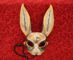 Alice in Wonderland Party- MarchofTime Hare V36… leather clockwork rabbit mask by Merimask, $200.00