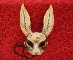 Alice in Wonderland Party- MarchofTime Hare V36… leather clockwork rabbit mask by Merimask, $200.00