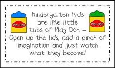 kinder back to school ideas