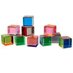 vasa mihich lucite cube sculptures, via 1st dibs