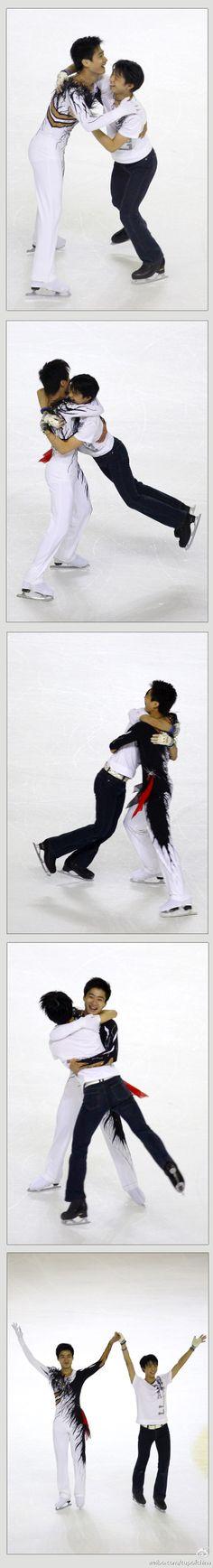 Yuzuru Hanyu and Nan song,at 2011 cup of China finale.from cup of China official weibo. Yuzuru HANYU 羽生結弦