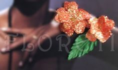 Red Rose French Silk Flower Bridal Hair Accessory Bridesmaids Gift