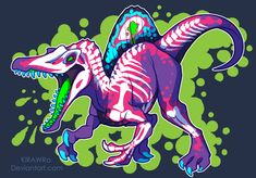 Radioactive Spinosaurus by KiRAWRa on DeviantArt