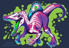 Radioactive Spinosaurus by KiRAWRa on DeviantArt