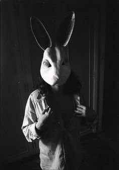 man with rabbit mask poster - Google Search