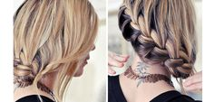 Low Side French Braid   Wedding Hairstyles Down With Braid   Click for Tutorial