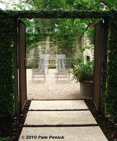Austin, Texas home + garden courtyard