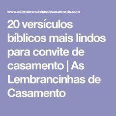 20 versículos bíblicos mais lindos para convite de casamento   As Lembrancinhas de Casamento