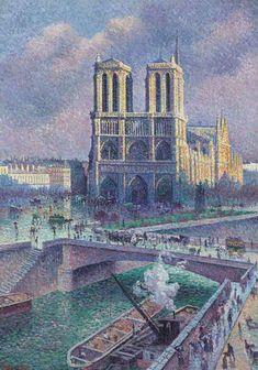 Maximilien Luce, Notre Dame de Paris  on ArtStack #maximilien-luce #art
